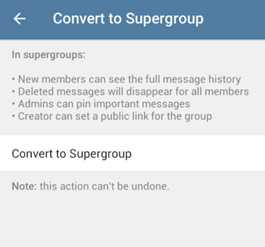 Convert to supergroup фото