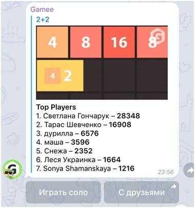В Телеграм можно играть в игры с очками и рейтингом