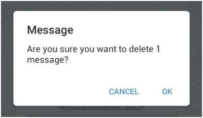Это кнопка удалит сообщение - подтверждение