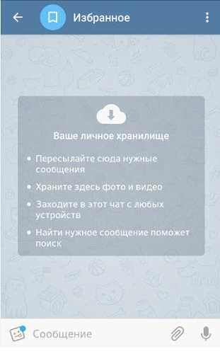 ваше личное хранилище информации в Телеграм