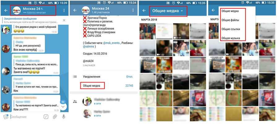 Находим медиа файлы в Телеграм, работая со смартфона