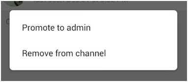 назначить администратором канала или удалить с канала
