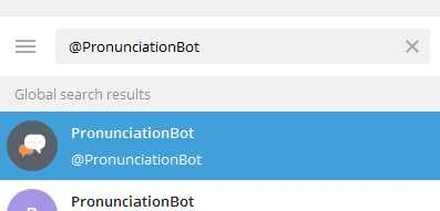 @PronunciationBot - бот синтезатор речи из текста в Телеграм