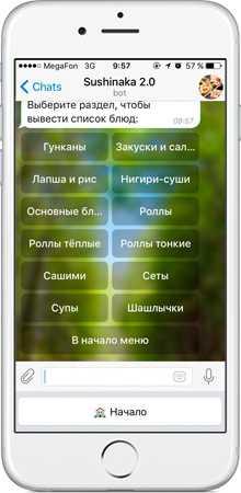 Сервис, который зарабатывает в Телеграм на продаже еды