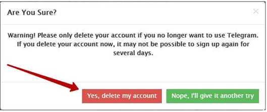 Нажимаем на кнопку Да, удалить этот аккаунт, то есть подтверждаем действие