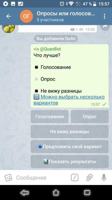 Опросы и голосования в Телеграм - как решить все проблемы