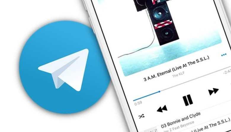 В Телеграм можно прослушивать списки музыки