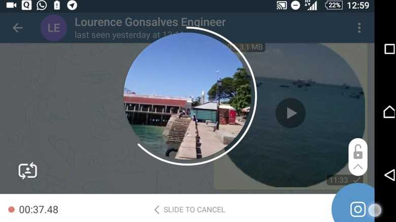 Отправляем видеосообщение в Телеграм - загрузка видео.