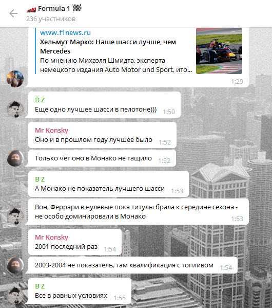 пример развития успешной группы Телеграм