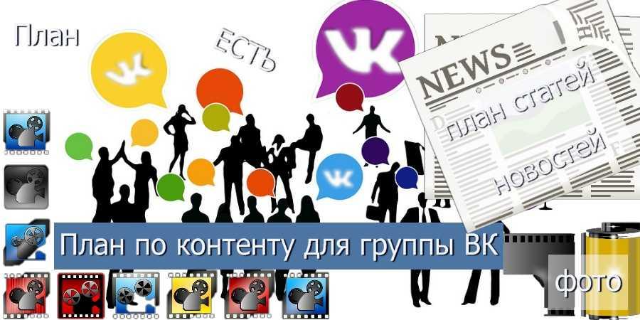 Контент план для раскрутки группы ВКонтакте