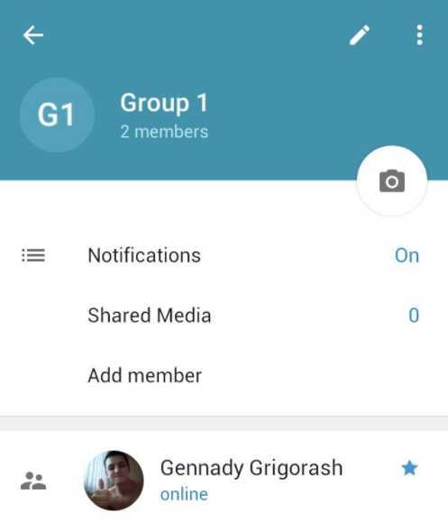 настройки группы Телеграм