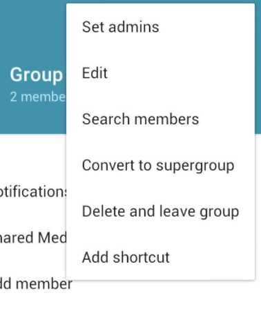 Настройки группы - можно искать людей и назначать админов
