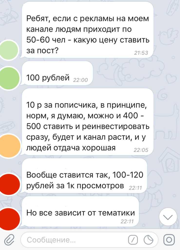 пример заработка в Телеграм без вложений