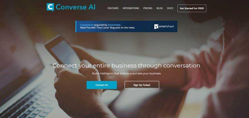 Начало регистрации на сайте converse.ai