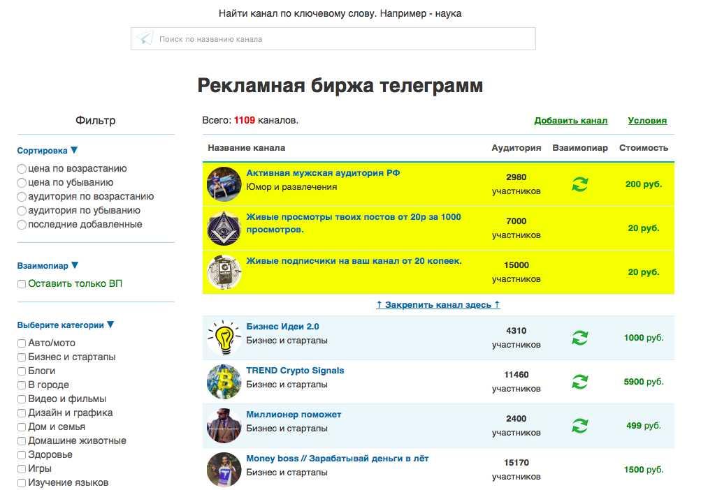 tgrm.su - это хорошая биржа Телеграм-каналов