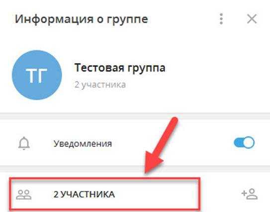 добавлены 2 участника, можно нажать на кнопку