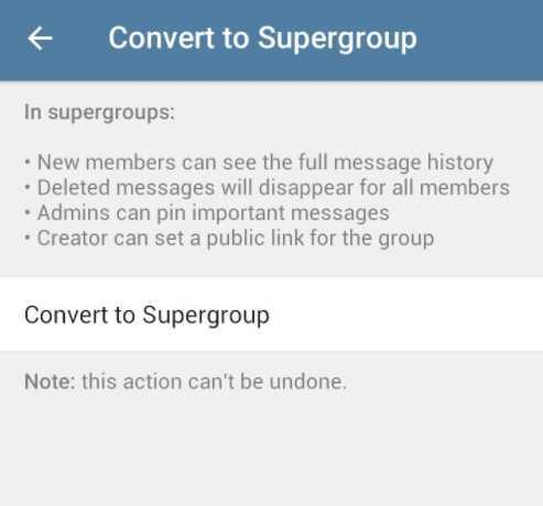 конвертировать группу в супергруппу