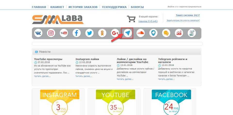 SMMLaba - сервис для накрутки Телеграм каналов и других социальных сетей.