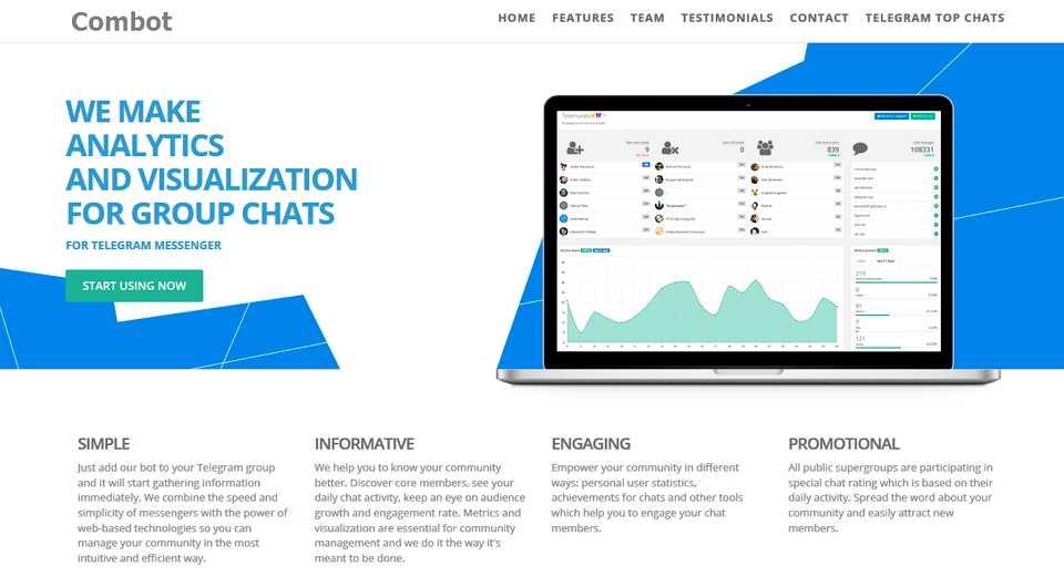 Combot - это кратая, набирающая популярность биржа рекламы Telegram