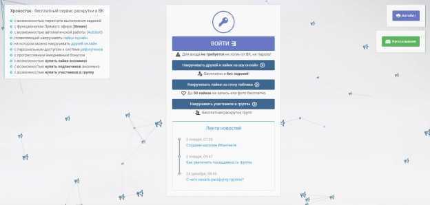 chronostock.ru - сервис для продвижения в вк