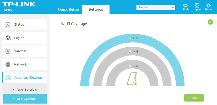 Вкладка Wi-Fi Coverage.