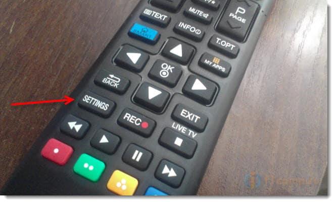 Открываем настройки на телевизоре