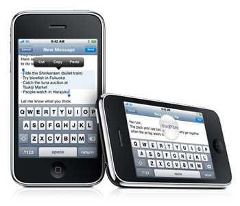 Фрагмент интерфейса iPhone 3g/s