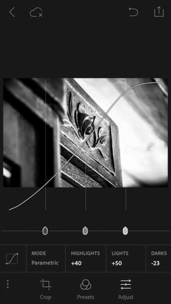 PhotoShop Lightroom для айфон