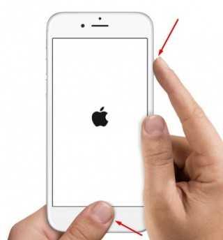 принудительная перезагрузка Айфон 6